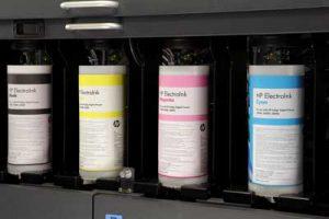 Botes de tinta de nuestras prensas HP Indigo