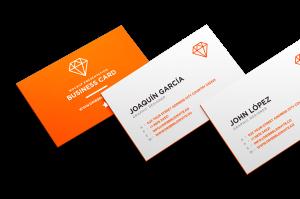 Ejemplo de tarjetas impresas con dato variable