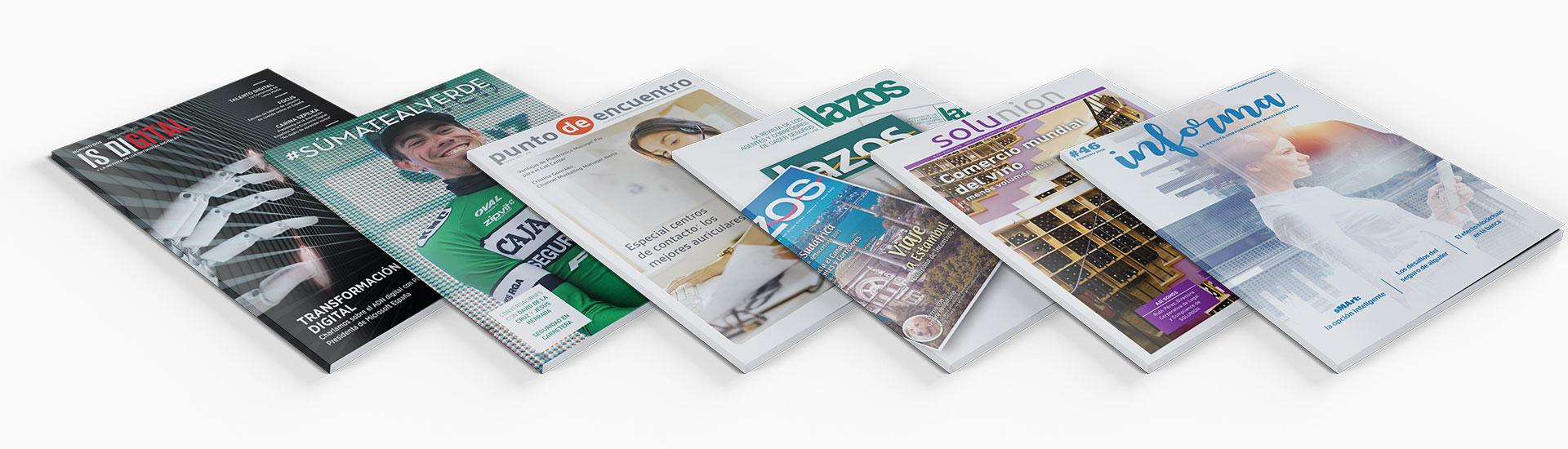 Revistas encuadernadas en cola PUR
