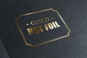 Resultado de un estampado en oro sobre cartulina