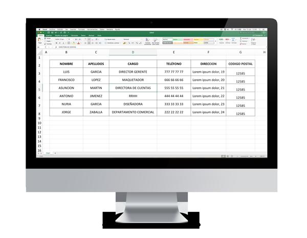 Te explicamos cómo debes de estructurar tu documento de Excel para personalizarte cada documento con dato variable.