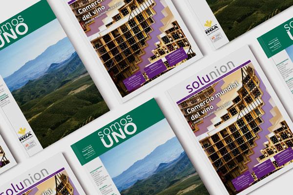 Muestrario de revistas corporativas realizadas en nuestras instalaciones
